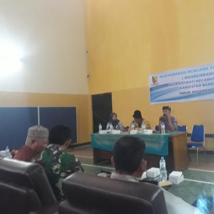 MUSYAWARAH RENCANA PEMBANGUNAN TINGKAT DESA TAHUN 2019 UNTUK 2020